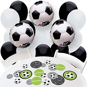 GOAAAL! - Soccer - Confetti and Balloon Party Decorations - Combo Kit
