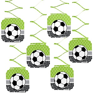 GOAAAL! - Soccer - Baby Shower Hanging Decorations - 6 Count