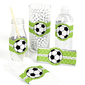 GOAAAL! - Soccer - Do It Yourself Baby Shower Wrappers - 15 Count