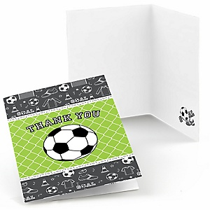 GOAAAL! - Soccer - Baby Shower Thank You Cards - Set of  8