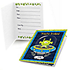 Lil' Space Alien - Baby Shower Fill In Invitations - 8 ct