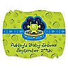 Lil' Space Alien - Personalized Baby Shower Squiggle Stickers - 16 ct