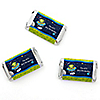 Space Alien - Personalized Birthday Party Mini Candy Bar Wrapper Favors - 20 ct