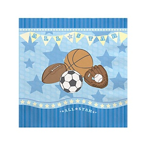 All Star Sports - Baby Shower Beverage Napkins - 16 ct