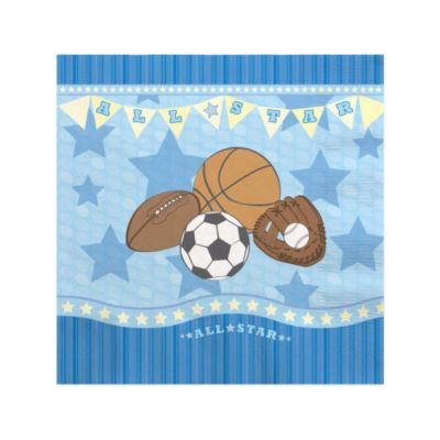 Good All Star Sports   Baby Shower Beverage Napkins   16 Ct