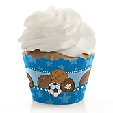 All Star Sports - Baby Shower Cupcake Wrappers & Decorations