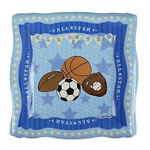 All Star Sports - Baby Shower Dessert Plates - 8 Pack