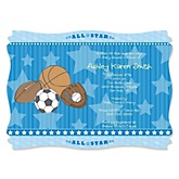 All Star Sports - Personalized Baby Shower Invitations