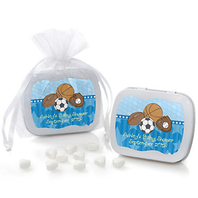 All Star Sports - Mint Tin Personalized Baby Shower Favors...