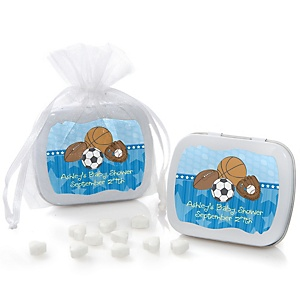 All Star Sports - Personalized Baby Shower Mint Tin Favors