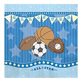 All Star Sports - Baby Shower Luncheon Napkins - 16 ct