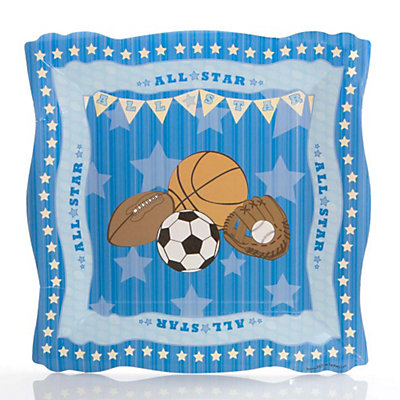all star sports baby shower dinner plates 8 ct bigdotofhappiness