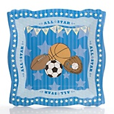 All Star Sports - Baby Shower Dinner Plates - 8 Pack