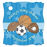 All Star Sports - Personalized Baby Shower Tags - 20 Count