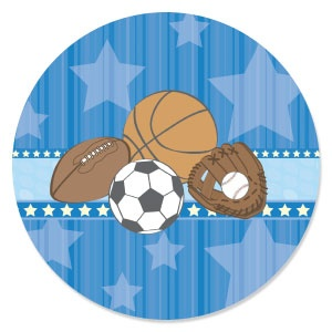 all star sports  personalized baby shower invitations, Baby shower invitations
