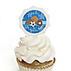 All Star Sports - Personalized Birthday Party Cupcake Pick and Sticker Kit - 12 ct