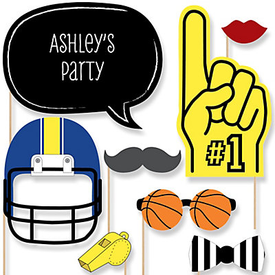 Sports   Baby Shower Photo Booth Props Kit   20 Props