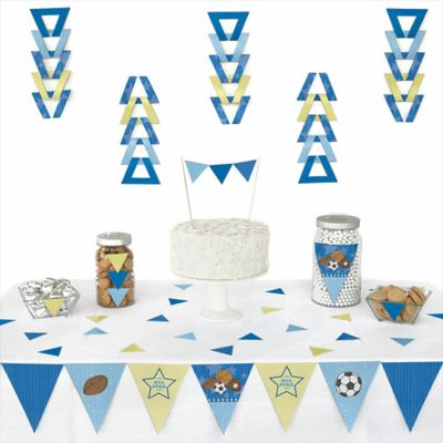 all star sports 72 piece triangle party decoration kit