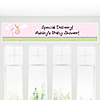 Stork Baby Girl - Personalized Baby Shower Banners