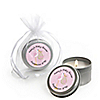 Stork Baby Girl - Personalized Baby Shower Candle Tin Favors