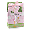 Stork Baby Girl - Personalized Baby Shower Favor Boxes
