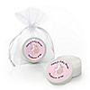 Stork Baby Girl - Personalized Baby Shower Lip Balm Favors