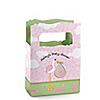 Stork Baby Girl - Personalized Baby Shower Mini Favor Boxes