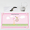 Stork Baby Girl - Personalized Baby Shower Placemats