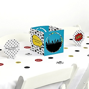 BAM! Superhero - Party Centerpiece & Table Decoration Kit