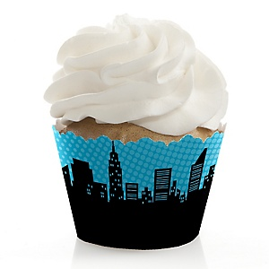 BAM! Superhero - Party Cupcake Wrappers & Decorations