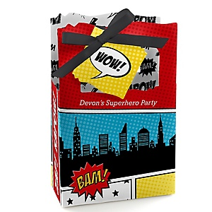 BAM! Superhero - Personalized Party Favor Boxes