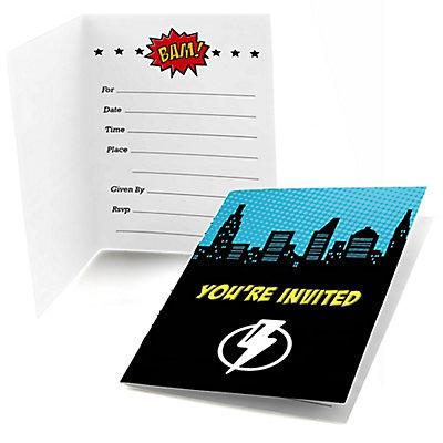 BAM! Superhero - Fill In Invitations -