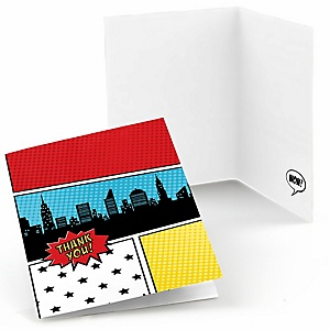 BAM! Superhero - Thank You Cards - 8 ct