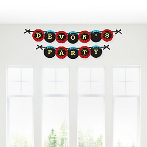BAM! Superhero - Personalized Party Garland Letter Banners