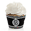 Sweet Sixteen - Birthday Party Cupcake Wrappers