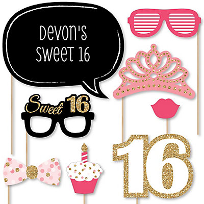 Sweet 16 - 20 Piece Photo Booth