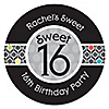 Sweet Sixteen - Personalized Birthday Party Sticker Labels - 24 ct
