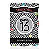 Sweet Sixteen Birthday - Personalized Birthday Party Thank You Cards