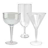 Clear Tall Pedestal Container Set - Baby Shower Do It Yourself - Set of 3