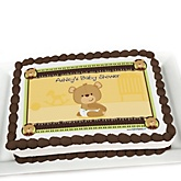Baby Teddy Bear - Personalized Baby Shower Cake Image Topper