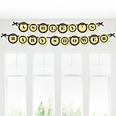Baby Teddy Bear - Personalized Baby Shower Garland Letter Banners