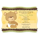 Baby Teddy Bear - Baby Shower Invitations