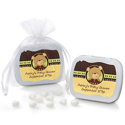Baby Teddy Bear - Mint Tin Personalized Baby Shower Favors...