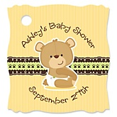 Baby Teddy Bear - Personalized Baby Shower Tags - 20 Count
