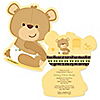 Baby Teddy Bear - Shaped Baby Shower Invitations