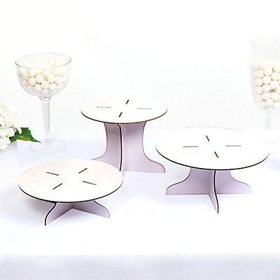 Three Piece Dessert Stand Set - DIY Round Display Stand...