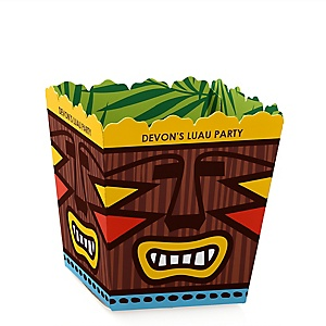 Tiki Luau - Personalized Tropical Hawaiian Summer Party Candy Boxes