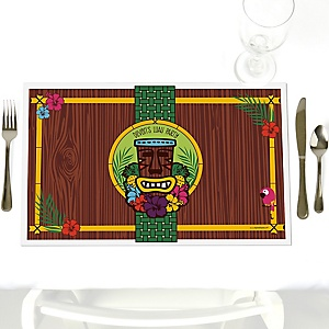 Tiki Luau - Personalized Tropical Hawaiian Summer Party Placemats