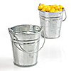 CLEARANCE - While Supplies Last Only $.59 each - Empty Fillable Tin Bucket - Everyday Party Do It Yourself