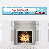Train - Personalized Baby Shower Banners